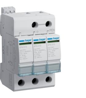 SPN517 SPD Ogranicznik przepięć T2 3P sieć IT In 20kA Up≤2kV styk FM Hager