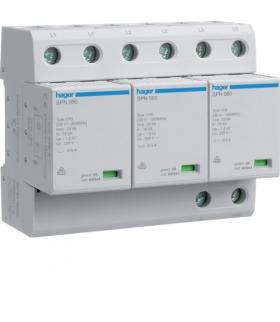 SPN800 SPD Ogranicznik przepięć T1 kombinowany 3P sieć TN-C Iimp 75kA Up≤1,5kV Hager