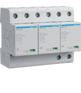 SPN800R SPD Ogranicznik przepięć T1 kombinowany 3P TN-C Iimp 75kA Up≤1,5kV styk FM Hager