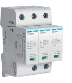SPN900R SPD Ogranicznik przepięć T1+T2 MOV 3P sieć TN-C Iimp 37,5 kA Up≤1,5kV styk FM Hager