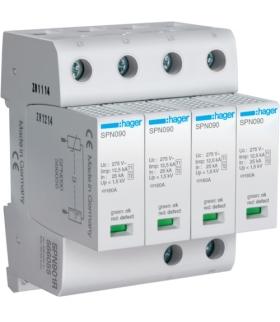 SPN901R SPD Ogranicznik przepięć T1+T2 MOV 4P sieć TN-S Iimp 50 kA Up≤1,5kV styk FM Hager