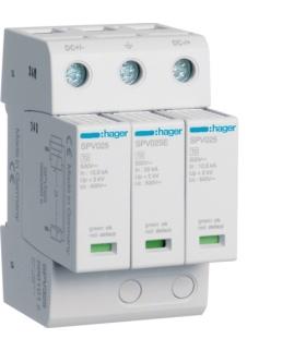 SPV325 SPD Ogranicznik przepięć T2 MOV 3P PV do sys.fotowolt. In 12,5 kA Up≤4kV DC Hager