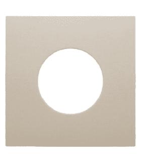 B.Kwadrat Płytka czołowa do łącznika i sygnalizatora świetlnego E10, kremowy, połysk Berker 5311248982