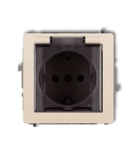 DECO Mechanizm gniazda bryzgoszczelnego 2P+Z SCHUKO (klapka dymna) Karlik 1DGPB-1sd