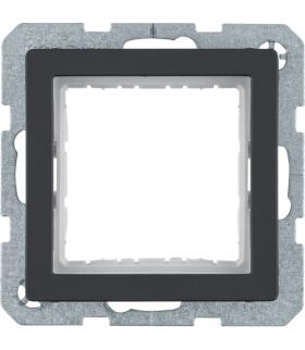 Q.x Zestaw adaptacyjny do modułów systo 45x45mm, antracyt aksamit, lakierowany Berker 14406086