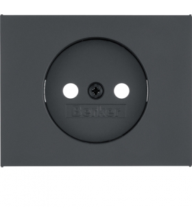 K.1 Płytka czołowa do gniazda bez uziemienia, antracyt mat, lakierowany Berker 3967157006