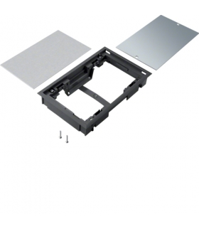 tehalit.VE-EE Pokrywa pełna płytki montaż E04 147X247 5mm czarny PA Hager BDE04059005