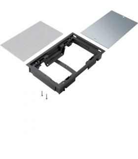 tehalit.VE-EE Pokrywa pełna płytki montaż E04 147X247 8mm czarny PA Hager BDE04089005