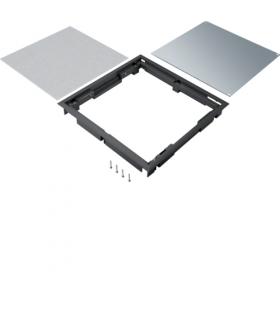 tehalit.VE-EE Pokrywa pełna płytki montaż Q08 294X294 12mm czarny PA Hager BDQ08129005