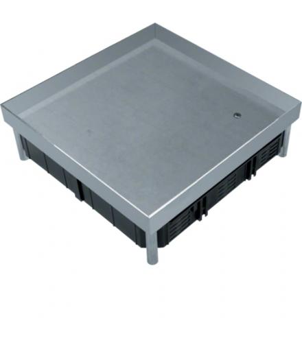 tehalit.VE-EE Pokrywa pełna EKQ06 200x200 gres/płytka 23/28mm stal nierdzewna  Hager EKQ0600BL1