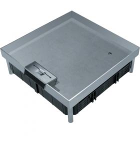 tehalit.VE-EE Pokrywa uchylna EKQ12 244x244 gres/płytka 23/28mm stal nierdzewna  Hager EKQ1200LE1