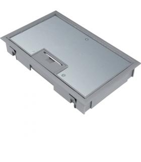 tehalit.VE-EE Pokrywa uchylna płytki montaż E04 147X247 5mm stal szary PA Hager KDE04057011