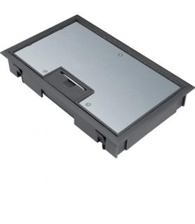 tehalit.VE-EE Pokrywa uchylna płytki montaż E04 147X247 5mm czarny PA Hager KDE04059005