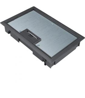 tehalit.VE-EE Pokrywa uchylna płytki montaż E04 147X247 8mm czarny PA Hager KDE04089005