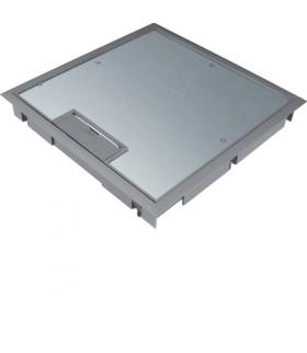 tehalit.VE-EE Pokrywa uchylna płytki montaż Q08 294X294 5mm stal szary PA Hager KDQ08057011
