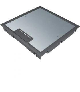 tehalit.VE-EE Pokrywa uchylna płytki montaż Q08 294X294 5mm czarny PA Hager KDQ08059005