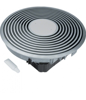 tehalit.VE-EE Podł rowkowy punkt zasilania tubus R12 podłoga podn czarny alu  Hager VANR12009005