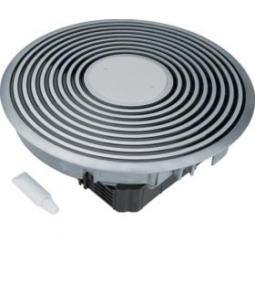 tehalit.VE-EE Podł rowkowy punkt zasilania tubus R2 podłoga podn czarny alu  Hager VANR2009005