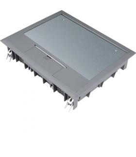 tehalit.VE-EE Pokrywa uchylna VE09 200x253 wykładzina 5mm stal szary PA Hager VE09057011