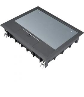 tehalit.VE-EE Pokrywa uchylna VE09 200x253 wykładzina 5mm czarny PA  Hager VE09059005