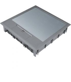 tehalit.VE-EE Pokrywa uchylna VQ12 244x244 wykładzina 5mm stal szary PA  Hager VQ12057011