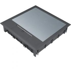 tehalit.VE-EE Pokrywa uchylna VQ12 244x244 wykładzina 5mm czarny PA  Hager VQ12059005