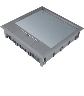 tehalit.VE-EE Pokrywa uchylna VQ12 244x244 wykładzina 12mm stal szary PA  Hager VQ12127011