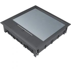 tehalit.VE-EE Pokrywa uchylna VQ12 244x244 wykładzina 12mm czarny PA  Hager VQ12129005
