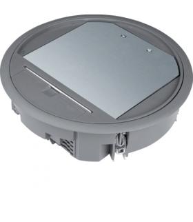 tehalit.VE-EE Pokrywa uchylna VR06 fi215 wykładzina 5mm stal szary PA Hager VR06057011