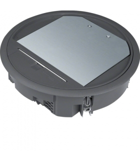 tehalit.VE-EE Pokrywa uchylna VR06 fi215 wykładzina 5mm czarny PA Hager VR06059005
