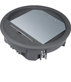 tehalit.VE-EE Pokrywa uchylna VR06 fi215 wykładzina 12mm czarny PA Hager VR06129005
