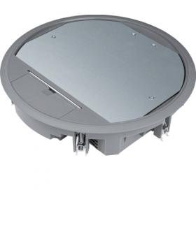 tehalit.VE-EE Pokrywa uchylna VR10 fi275 wykładzina 5mm stal szary PA Hager VR10057011