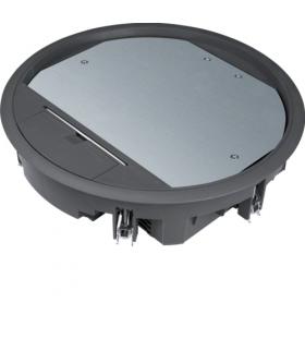 tehalit.VE-EE Pokrywa uchylna VR10 fi275 wykładzina 12mm czarny PA Hager VR10129005