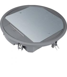 tehalit.VE-EE Pokrywa uchylna VR12 fi306 wykładzina 5mm stal szary PA Hager VR12057011