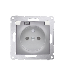 Gniazdo wtyczkowe pojedyncze do wersji IP44 - bez uszczelki - klapka transparentna do ramek Nature do ramek Premium (moduł) 16A