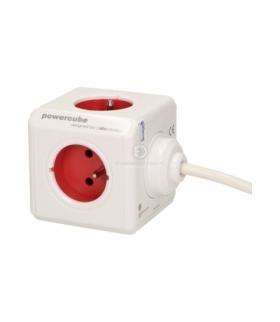 Przedłużacz PowerCube EXTENDED z 5xE/FR, przewód 1,5m, czerwony Orno 2300/FREXPC