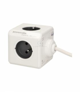 Przedłużacz PowerCube EXTENDED USB z ładowarką USB 4xE/FR, 2xUSB, przewód 3m, szary Orno 2404/FREUPC