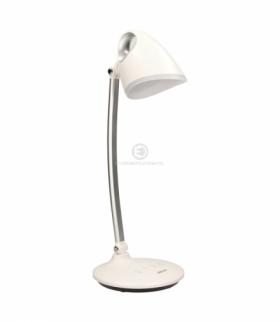 Lampa biurkowa KALCYT LED, 6W, 200lm, 4000K, wyłącznik czasowy, biała Orno OR-LB-1527