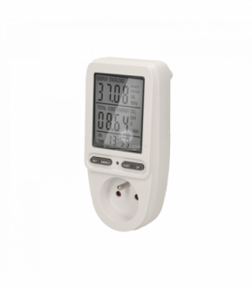 Watomierz, kalkulator energii z wyświetlaczem LCD, wersja schuko Orno OR-WAT-435(GS)
