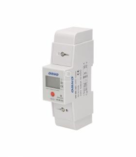 1-fazowy wskaźnik zużycia energii elektrycznej, 80A, dodatkowy wskaźnik, wyjście impulsowe