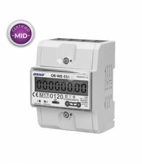 3-fazowy licznik energii elekt.80A RS485, MID