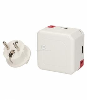 Rozgałęźnik PowerUSB Portable, 4xUSB + PowerBank Orno 9402/EUBANK