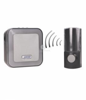 Dzwonek bezprzewodowy ENKA DC, bateryjny, learning system, 32 dźwięki, 100m Orno OR-DB-AT-136