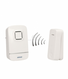 Dzwonek bezprzewodowy, KINETIC AC, sieciowy, bezbateryjny przycisk, learning system, 32 dźwięki, 70m Orno OR-DB-AV-132