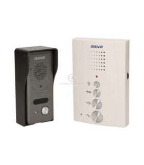 Zestaw domofonowy jednorodzinny, bezsłuchawkowy, biały, ELUVIO Orno OR-DOM-RE-914/W