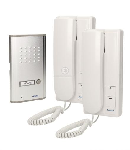 Zestaw domofonowy jednorodzinny, podtynkowy z interkomem, FOSSA INTERCOM