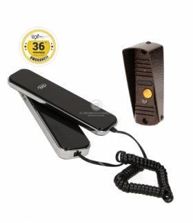 Zestaw domofonowy jednorodzinny, wandaloodporny, CORS S słuchawka magnetyczna