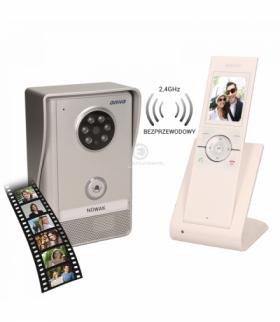 """Wideodomofon bezprzewodowy, zasięg 150m, kolor, LCD 2,4"""", pamięć, natynkowy, IP55, SEMIS MEMO Orno OR-VID-XE-1051/W"""