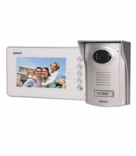 """Zestaw wideodomofonowy bezsłuchawkowy, kolor LCD 4,3"""" z kamerą plastikową, AMMO Orno OR-VID-SU-1058/W"""