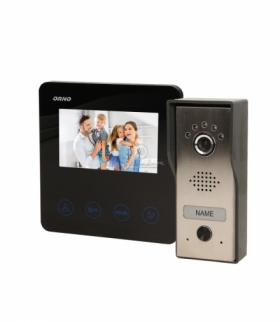 """Zestaw wideodomofonowy, bezsłuchawkowy, kolor, LCD 4,3"""", czarny, DUX Orno OR-VID-MT-1050"""